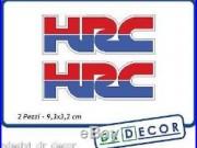 2 Adesivi in vinile HRC dim. 9,3x3,2 cm X Honda CBR, VFR, Africa Twin, Horne