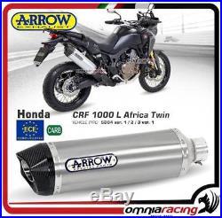 Arrow Pot D'Echappement Allu approuvé Honda CRF 1000L Africa Twin 2016 16