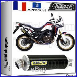 Arrow Pot Echappement Maxi Racetech Black Hom Honda Crf 1000 Africa Twin 2016 16