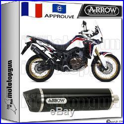 Arrow Silencieux Maxi Racetech Dark CC Hom Honda Crf 1000 L Africa-twin 2016 16