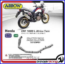 Arrow Tuyau Collecteur DeKat Acier Honda CRF 1000L Africa Twin 2017