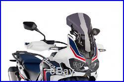 Bulle Racing Puig Honda Crf 1000l Africa Twin Annee 16'-17' Fume Fonce
