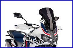 Bulle Racing Puig Honda Crf 1000l Africa Twin Annee 2017 Noir