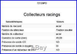 COLLECTEUR ARROW RACING HONDA CRF 1000 L AFRICA TWIN 2016- 72129PD