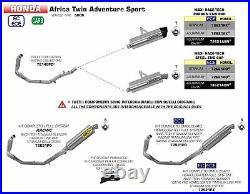 Collecteurs En Acier Inox Arrow Pour Honda Africa Twin Adventure Sport 2018 2019