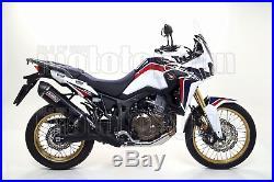 Giannelli Echappement Hom Maxi Oval CC Noir Honda Crf 1000 L Africa Twin 2016 16