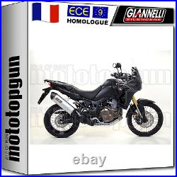 Giannelli Ligne Complete Hom Maxi Oval CC Honda Crf 1000 L Africa Twin 2017 17