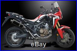 HONDA CRF1000L AFRICA TWIN 2016-2019 Echappement Complet 350mm Ovale Carbone