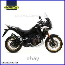 HONDA CRF1100L AFRICA TWIN 2020 Pot échappement ARROW MAXI RACE-TECH ALU Noir CC
