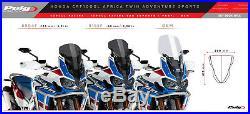 Honda Africa Twin Adventure Sports 2018 Bulle Puig Fumé Foncé Racing +30mm
