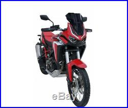 Honda Africa Twin Crf 1100 L 2020 Bulle Sport Ermax Noire Fonce 0301t11
