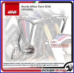 Honda CRF 1000 Africa Twin 16 Protections Moteur GiVi Tubulaire Inox TNH1144OX