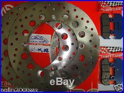 Kit 2 Disques Brembo+plaquettes Avant Honda 750 Xrv Africa 1990 1991 Twin 7c7