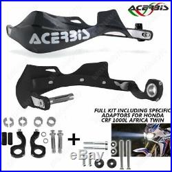 Kit Adapteurs + Protege-mains Rally Pro Noir Honda Africa Twin Crf 1000l 16/18