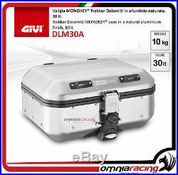 Kit Givi Top Case Valise DLM30 DOLOMITI + plaque HONDA AFRICA TWIN 750 9395