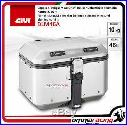 Kit Givi Top Case Valise DLM46 DOLOMITI + plaque HONDA AFRICA TWIN 750 9602