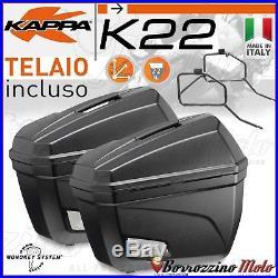Kit Valises Laterales Kappa K22 Support Honda Crf 1000l Africa Twin 2016-2017