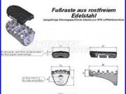Kit de repose-pieds Honda xrv 750 africa twin de 1989 à 2003