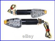 LED Blinker Sparkle schwarz 40mm Honda