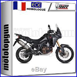 MIVV Kit Echappement No-kat Hom Speed Edge CC Honda Crf Africa Twin 2016 16