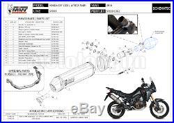 MIVV Kit Echappement No-kat Hom Speed Edge Noir CC Honda Crf Africa Twin 2016 16