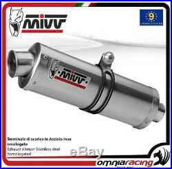 MIVV OVAL Pot D'Echappement approuve acier HONDA XRV750 AFRICA TWIN 1993