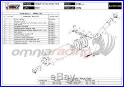 MIVV OVAL Pot D'Echappement approuve acier HONDA XRV750 AFRICA TWIN 1998 98