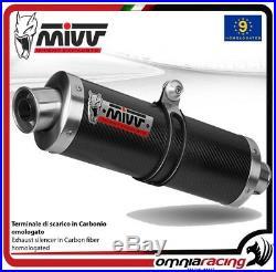 MIVV OVAL Pot D'Echappement approuve carbone HONDA XRV750 AFRICA TWIN 2002 02