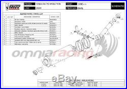MIVV OVAL Pot D'Echappement approuve titane HONDA XRV750 AFRICA TWIN 1996 96