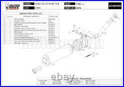 MIVV Pot D Echappement Hom Oval Honda Xrv 750 Africa Twin 1999 99 2000 00