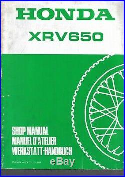 Manuel Atelier Honda africa twin 650 1988 xrv 650 j xrv650j