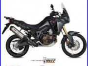 Mivv Honda Africa Twin 1000 2017 17 Echappement Moto Oval Titanium Carbon Cap