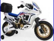 Moto électrique Honda Africa Twin 6V blanche