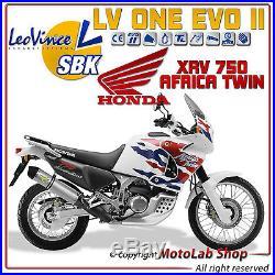 POT D'ÉCHAPPEMENT SBK LeoVince LV ONE INOX HONDA 750 XRV AFRICA TWIN 2003 2004