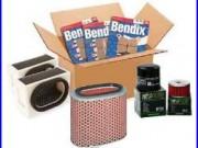 Pack révision filtres Hiflofiltro + plaquettes Bendix Honda 750 AFRICA TWIN 93-0