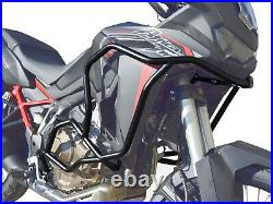 Pare carters Crash Bars Heed HONDA CRF 1100 Africa Twin Bunker noir