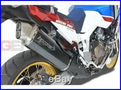 Pot D'Echappement Hp Corse 4Track Noir Honda Crf 1000 L Africa Twin 2018 18