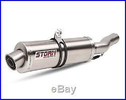 Pot d'Echappement Mivv Storm GP Oval Honda Africa Twin XRV 750 93-03 Inox
