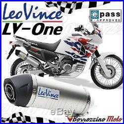 SILENCIEUX APPROUVE LEOVINCE LV ONE INOX HONDA XRV AFRICA TWIN 750 2001
