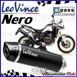 Silencieux Approuve Leovince Noir Inox 14028 Honda Crf 1000 L Africa Twin 2016