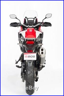 Silencieux Bos Desert Fox Black Honda Crf 1000 L Africa Twin 2016- 1640210b