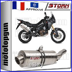 STORM by MIVV SILENCIEUX CAT OVAL HONDA CRF 1000 L AFRICATWIN 2016 16