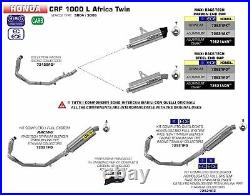 Silencer Maxi Race Tech Arrow Titanium Inox Honda Crf 1000l Africa Twin 2016-17