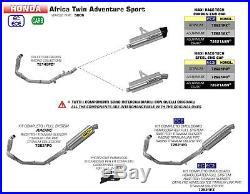 Silencieux Arrow Maxi Race-tech Dark Honda Africa Twin Adv Sport 2018 72621aon