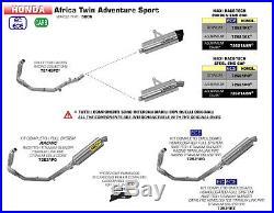 Silencieux Arrow Maxi Race-tech Titane Honda Africa Twin Adv Sport 2018 72621po