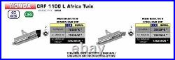 Silencieux Arrow Pour Honda Crf 1100 L Africa Twin 2020 Maxi Race-tech Titane C