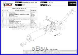 Silencieux Homologue Oval H. 024. Ln MIVV Honda Xrv 750 Africa Twin 2000 00