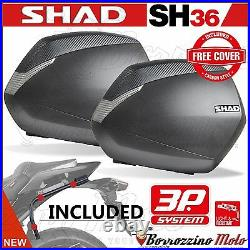 Valises Laterales Shad Sh36 Carbon + Support 3p Honda Africa Twin Crf 1000 L