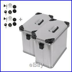 Valises Latérales alu 2x34l + kit 16mm pour Honda Africa Twin XRV 650/ 750