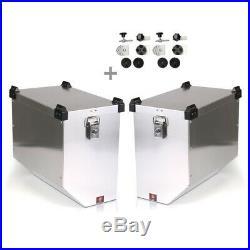 Valises Latérales alu 2x41l + kit 16mm pour Honda Africa Twin XRV 650/ 750